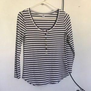 striped long sleeve shirt